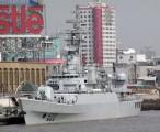"""我东海舰队053H3型江卫II级522号""""连云港""""导弹护卫舰,目前装备两艘,都在东海舰队服役 / 2004-02-27 12:12"""