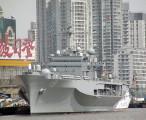 """换个角度拍,美国海军太平洋舰队旗舰""""蓝岭""""号两栖指挥舰 / 2004-02-27 12:13"""