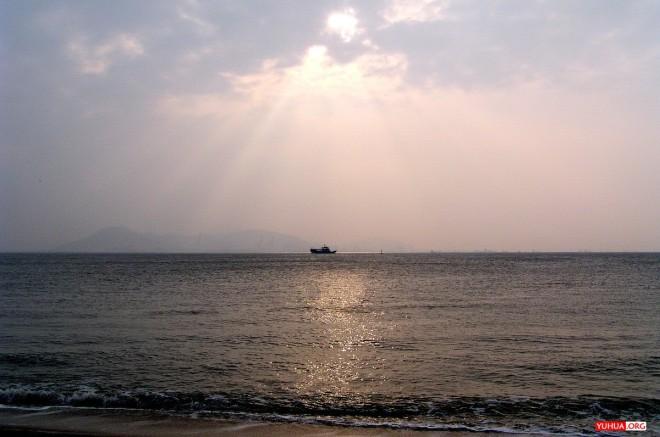 厦门胡里山炮台,从环岛观景木栈道上看海 / 2008-02-09 16:33